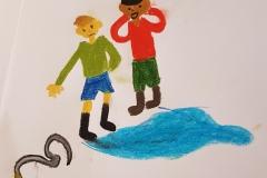 Annas tegning, Peter og Kajs snog
