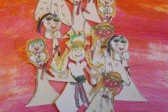 Helle Køster, Lucia Piger på lyserød baggrund