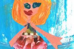 Tegnet af Clara. Højestene. Oldebarn af Frigge og Erling Køster