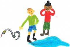 Tegnet af Anna. Oldebarn af Frigge og Erling Køster