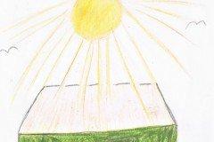 Tegnet af Tullia og Miriam. Børnebørn af Pia Rostrup og Morten Henning Henningsen