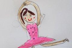 Tegnet af Caroline. Alfeline. Barnebarn af Poul og Mimi Jespersen