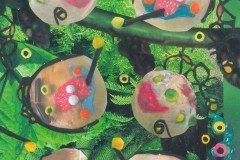 Collage af Helle. De dekorerede Klovneboller, lavet af Drejøs børnebørn